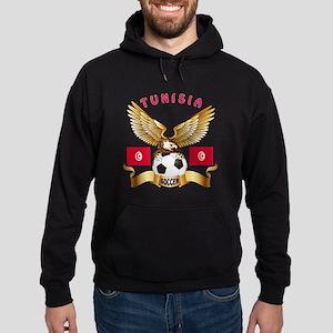 Tunisia Football Design Hoodie (dark)