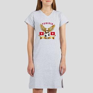 Tunisia Football Design Women's Nightshirt