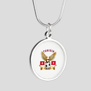 Tunisia Football Design Silver Round Necklace
