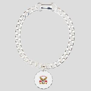 Tunisia Football Design Charm Bracelet, One Charm