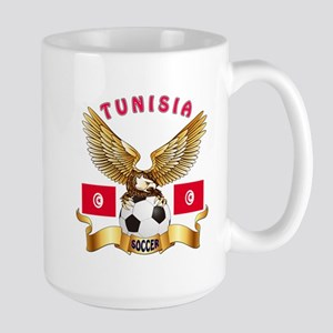 Tunisia Football Design Large Mug