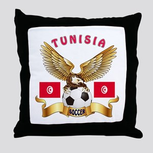 Tunisia Football Design Throw Pillow