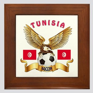 Tunisia Football Design Framed Tile