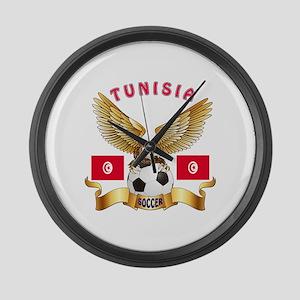 Tunisia Football Design Large Wall Clock