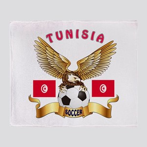 Tunisia Football Design Throw Blanket