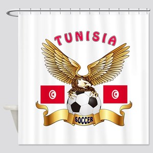 Tunisia Football Design Shower Curtain