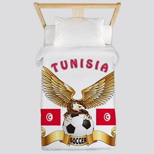 Tunisia Football Design Twin Duvet