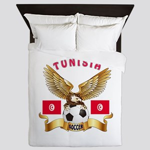 Tunisia Football Design Queen Duvet