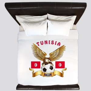 Tunisia Football Design King Duvet
