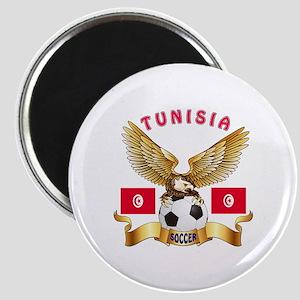 Tunisia Football Design Magnet