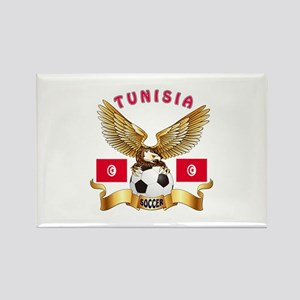 Tunisia Football Design Rectangle Magnet
