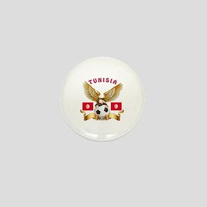 Tunisia Football Design Mini Button