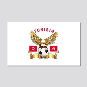 Tunisia Football Design Car Magnet 20 x 12