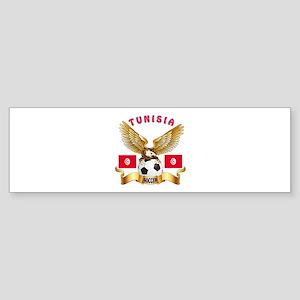 Tunisia Football Design Sticker (Bumper)