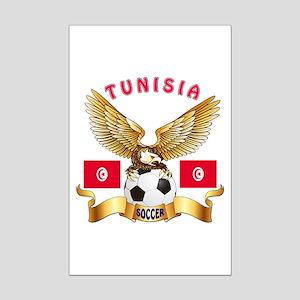Tunisia Football Design Mini Poster Print