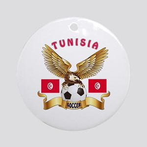 Tunisia Football Design Ornament (Round)