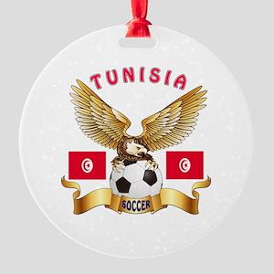 Tunisia Football Design Round Ornament