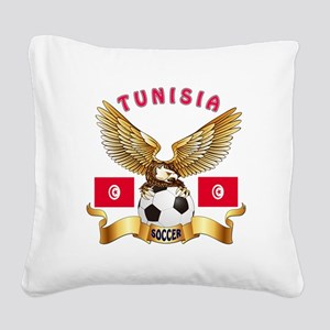 Tunisia Football Design Square Canvas Pillow