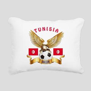Tunisia Football Design Rectangular Canvas Pillow
