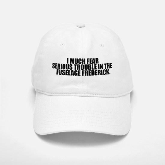 Trouble in the Fuselage Baseball Baseball Cap