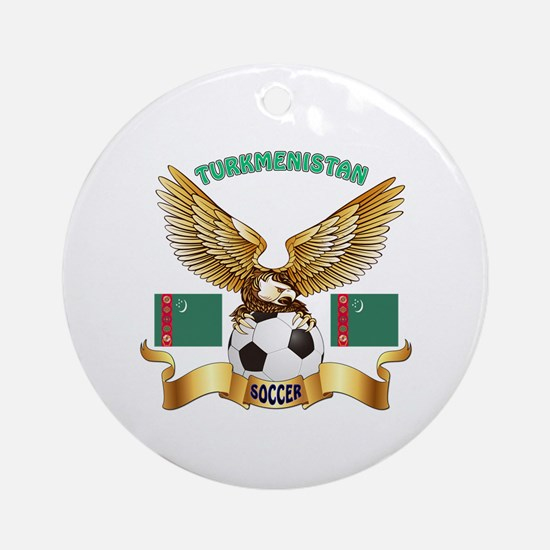 Turkmenistan Football Design Ornament (Round)