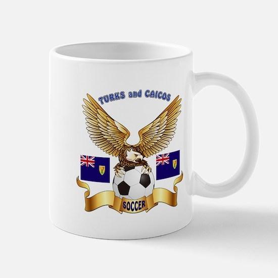 Turks and Caicos Football Design Mug