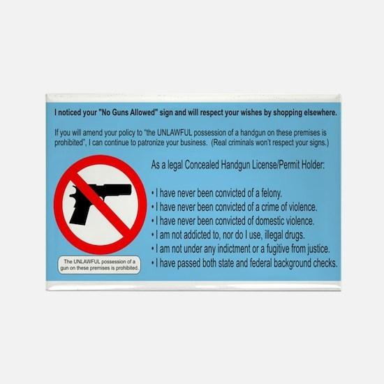 No Guns = No Money Rectangle Magnet