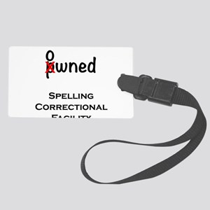 Spelling Correctional Facility Large Luggage Tag