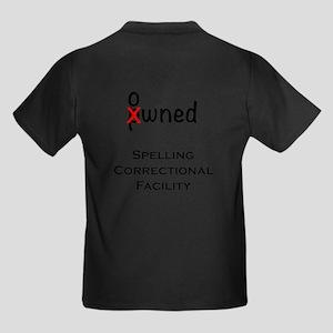 Spelling Correctional Facility Kids Dark T-Shirt