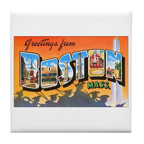 Boston Massachusetts Tile Coaster