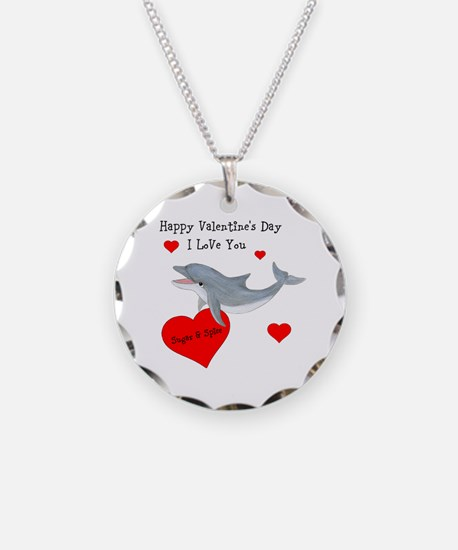 Personalized Dolphin Valentine Necklace
