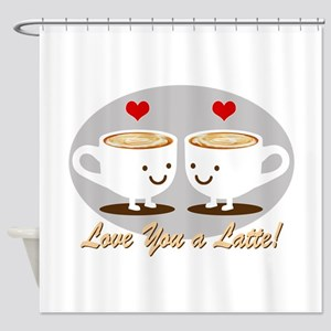 Cute! I Love You a LATTE! Shower Curtain