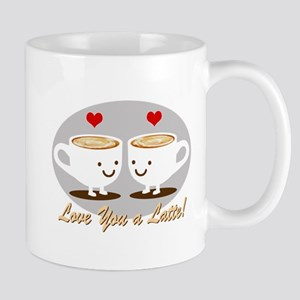 Cute! I Love You a LATTE! Mug