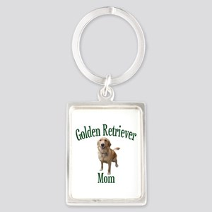 Golden Retriever Mom Portrait Keychain