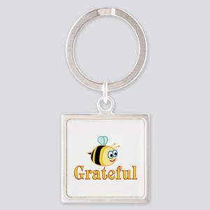 Be Grateful Square Keychain