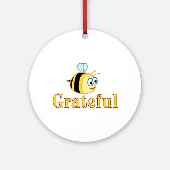 Be Grateful Ornament (Round)