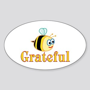 Be Grateful Sticker (Oval)