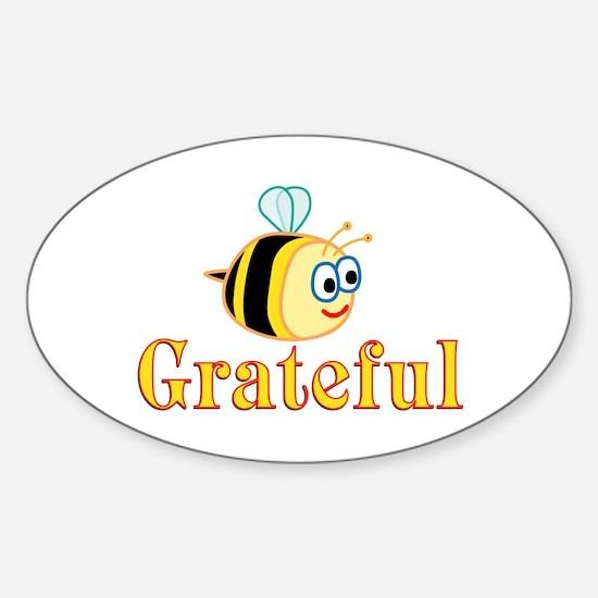 Be Grateful Sticker (Oval)