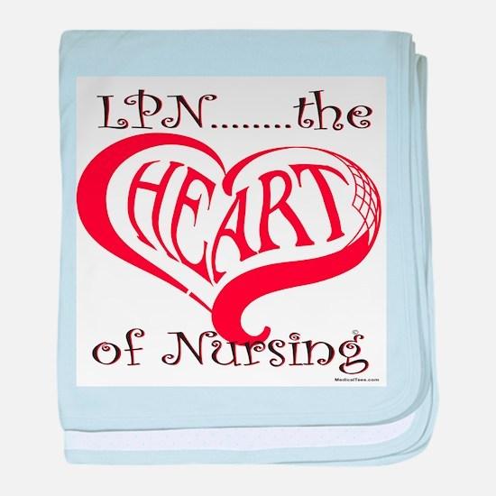 LPN, the Heart of nursing baby blanket
