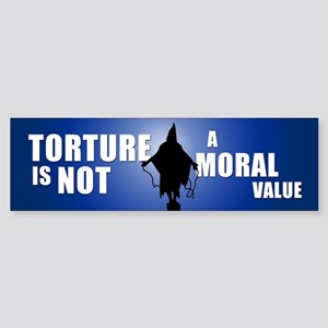 NOT A MORAL VALUE Bumper Sticker