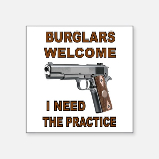 "GUNS AT HOME Square Sticker 3"" x 3"""