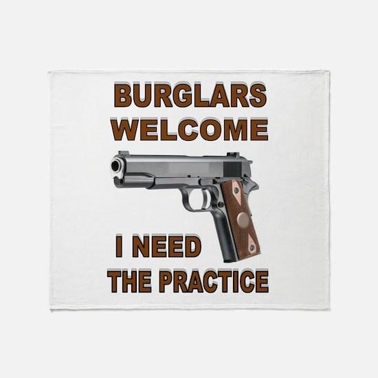 GUNS AT HOME Throw Blanket