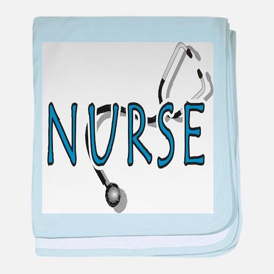 Nurse logo baby blanket