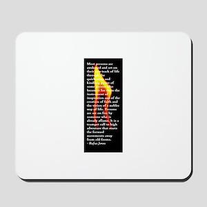 Rufus Jones flame Mousepad