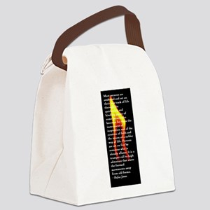 Rufus Jones flame Canvas Lunch Bag