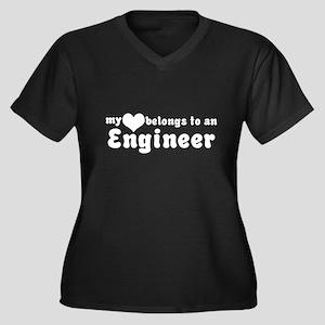 Engineer Love Women's Plus Size V-Neck Dark T-Shir