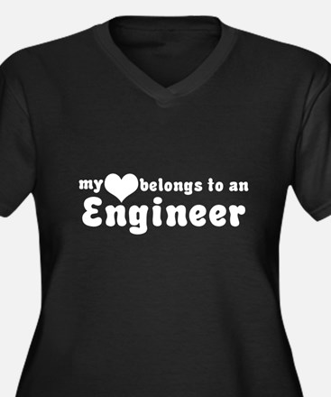 Engineer Love Women's Plus Size V-Neck Dark T-Shir