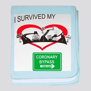 I survived my coronary bypass baby blanket