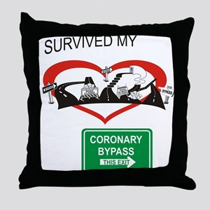 I survived my coronary bypass Throw Pillow