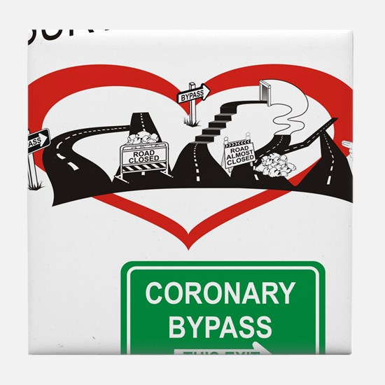 I survived my coronary bypass Tile Coaster